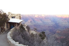 South Rim with store at Grand Canyon stock image