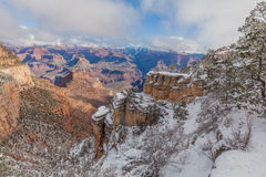 South Rim  Winter Snow Royalty Free Stock Photography