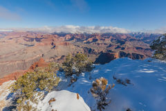 South Rim Winter Snow Stock Photography