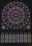 South Rose Window Notre Dame Paris Royalty Free Stock Photos