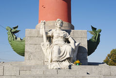 South Rostral column closeup, St.Petersburg, Russia Stock Photography