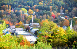 South Royalton, Vermont in autumn time Stock Photos