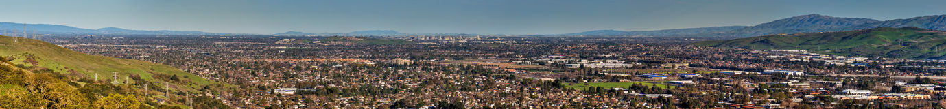 South San Francisco Bay Panorama Stock Photography