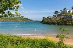 South sands beach Salcombe Devon UK beach in the estuary in summer Royalty Free Stock Photo