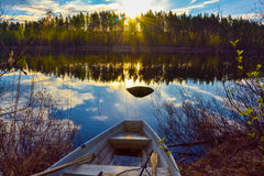 South Savo Finland calm pond. stock image