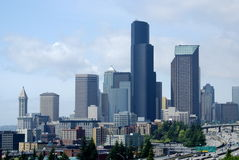 South Seattle Cityscape Royalty Free Stock Images