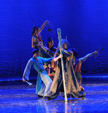 South seven a weirdo-The dance drama The legend of the Condor Heroes. In December 2, 2014, a large Chinese dance drama the legend of the Condor Heroes for the Royalty Free Stock Images