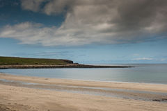 South shore of Atlanctic ocean at Skara Brae. Royalty Free Stock Photos
