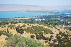 South shore of Lake Kinneret Royalty Free Stock Images