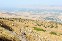 South shore of Lake Kinneret Stock Images