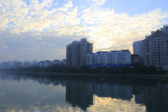 South shore of yundang lake at sunrise Royalty Free Stock Photo