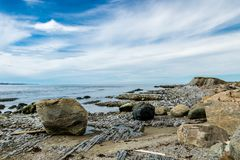 South side of Broom Point, Gros, Morne, Newfoundland, Canada stock image