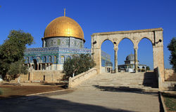 South Side of the Dome of the Rock in Jerusalem Israel Stock Photography