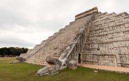 South side of the El Castillo pyramid in Chichen Itza Stock Photography