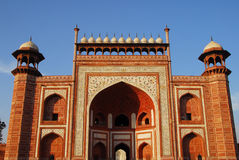 South Side Grand Entrance Gate Of Taj Mahal Royalty Free Stock Photos