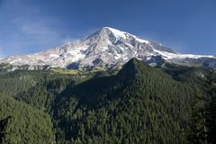 South side of Mount Rainier Stock Photo
