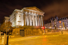 South side of St George's Hall by night. ENGLAND, LIVERPOOL - 15 NOV 2015: South side of St George's Hall by night Stock Photo