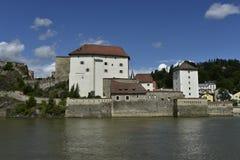 South Side of Veste Niederhaus, Passau, Bavaria, Germany Stock Photography