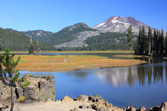 South Sister from Sparks Lake Royalty Free Stock Photos