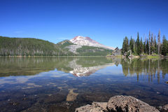 South Sister from Sparks Lake royalty free stock photo