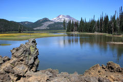 South Sister from Sparks Lake Stock Photography