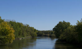 South Skunk River in Jasper County Iowa Royalty Free Stock Photos