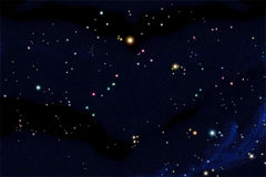 South sky star chart. Include 25 constellations arrange follow real position Stock Image