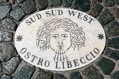 Free South South West Wind Marker In Vatican Stock Photos - 60655933