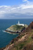 South Stack Lighthouse. Off the Isle of Anglesey Wales Stock Images
