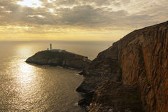 South Stack lighthouse, Anglesey, North Wales. South Stack lighthouse on Holy Island, near Holyhead, Anglesey, North Wales, in the evening light Stock Photography