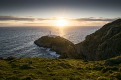 South Stack Lighthouse in Anglesey. South Stack Lighthouse in Anglesey, Wales, UK GB Stock Photography