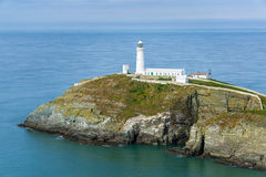 South stack lighthouse on a calm day Stock Image