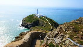 South stack lighthouse, holyhead. Wales royalty free stock images