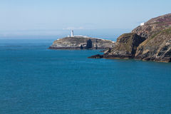 South Stack with lighthouse Royalty Free Stock Photos