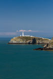 South Stack with lighthouse Royalty Free Stock Photography