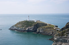 South Stack Lighthouse. In wales Royalty Free Stock Images