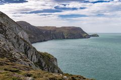 South Stack Lighthouse, Wales, UK stock photos