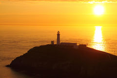 South Stack at sunset A Royalty Free Stock Photos