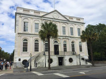 South State Bank, Charleston, SC. The South State Bank located on Broad Street in Charleston, SC royalty free stock photos