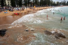 South Steyne Beach, Manly, Sydney, Australia Stock Photos