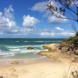 South Stradbroke Island Qld. Beach on South Stradbroke Island Qld Stock Photography