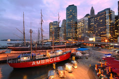 South Street Seaport Royalty Free Stock Photo