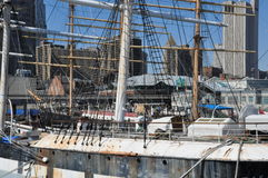 South Street Seaport in New York Stock Photo