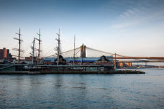 South Street Seaport, Pier 17 in NYC stock photo