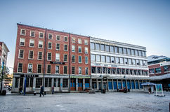 South Street Seaport Shops Damaged by Hurricane Sa Stock Photo