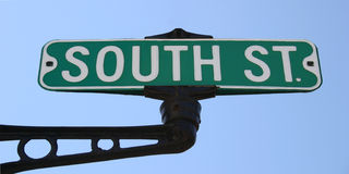 South Street Sign. On Iron pole Stock Images