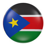 South Sudan button on white background Stock Photos