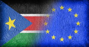 South Sudan and the EU Royalty Free Stock Photo