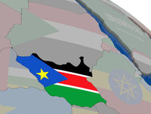 South Sudan with flag Stock Photo