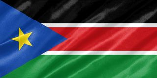 South Sudan Flag royalty free stock image